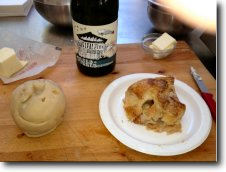 Gravenstein Apple Dumpling - before & after