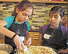 Kids cooking at Relish