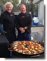 Gerard & staff with mouthwatering paella